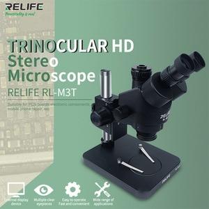 Image 2 - Relife Trinoculaire Stereo Microscoop 0.7 4.5X Continue Zoom Microscoop Met Camera Voor Telefoon Pcb Elektronische Reparatie Apparaat RL M3