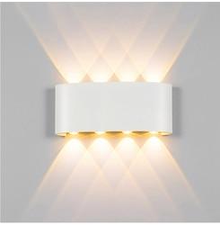 Nowoczesna lampa sufitowa led kryty schody oprawa oświetleniowa nocna Loft salon Up Down domowy korytarz Lampada 2W 4W 6W 8W kinkiety ścienne w Zewnętrzne lampy ścienne od Lampy i oświetlenie na