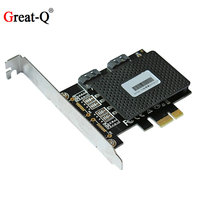 6Gbps PCI express PCIe to Dual SATA 3.0  Expansion Controller riser post card adapter