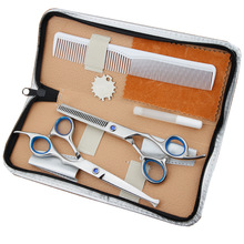 купить Professional Hairdressing Scissors 6 Inch Haircut Hair Cutting Salon Barber Scissors Set Thinning Shears Hairdressing Scissors дешево