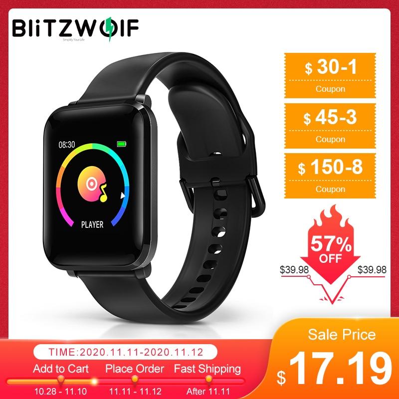 BlitzWolf BW-HL1 Smart Watch Wristband IPS Big Screen 8 Sports Mode IP68 Waterproof HR Blood Oxygen Pressure O2 Fitness Tracker 1