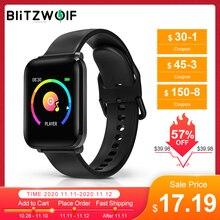 BlitzWolf BW HL1 ساعة ذكية معصمه IPS شاشة كبيرة 8 وضع الرياضة IP68 مقاوم للماء HR ضغط الدم الأكسجين O2 جهاز تعقب للياقة البدنية