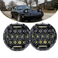 DOT 75W 7Inch Led Headlight For 90 97 Mazda Miata MX5 MX 5 Sealed Beam White DRL Headlights for Lada Niva 4X4