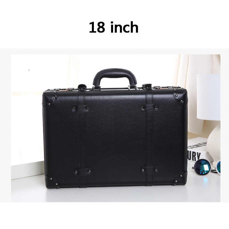 LEINASEN Retro zestaw walizek na kółkach Spinner kobiety hasło wózek 24 cali koła walizki 20 cali Vintage kabina torba podróżna bagażnik