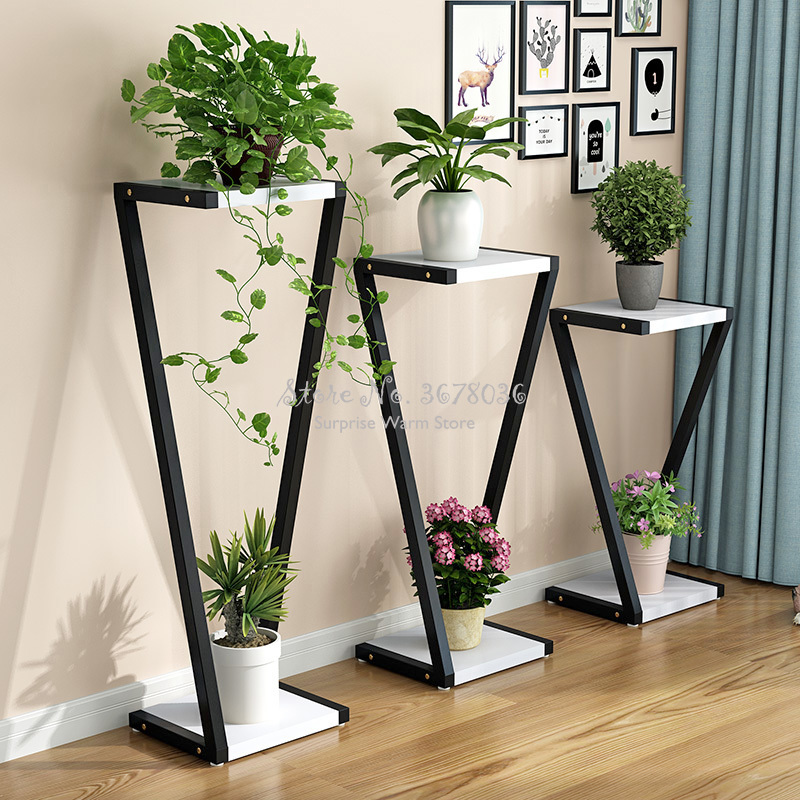 1pcs Cheap Flower Stand Plant Shelves Multi-layer Plant Stand Flower Pot Rack Stand  Home Indoor Flower Bonsai Display Shelf