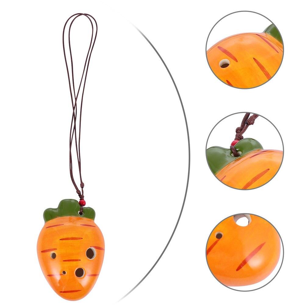 Creative Ceramic 6 Holes Ocarina Adorable Ocarina Instrument (Orange)