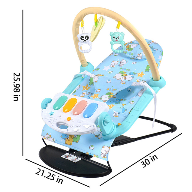 Newborn Baby Swing Chair Rocking Chair Multifunctional Music Adjustable Swing Baby Comfort Chair Baby Cradle Suitable for Kids 6