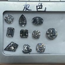 5*7MM  Grey Pear Shape Cut Moissanite Lab Grown Diamond Stones Loose GRA VVS Gemstones