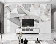 Пользовательские 3d обои для стен спальни гостиной мраморная