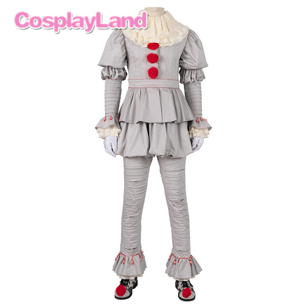 Image 2 - Stephen Kings It 2 Cosplay Costume IT Dancing Clown Pennywise  Full Suit Halloween Party Terror Movie Cosplay Outfit BootsMovie