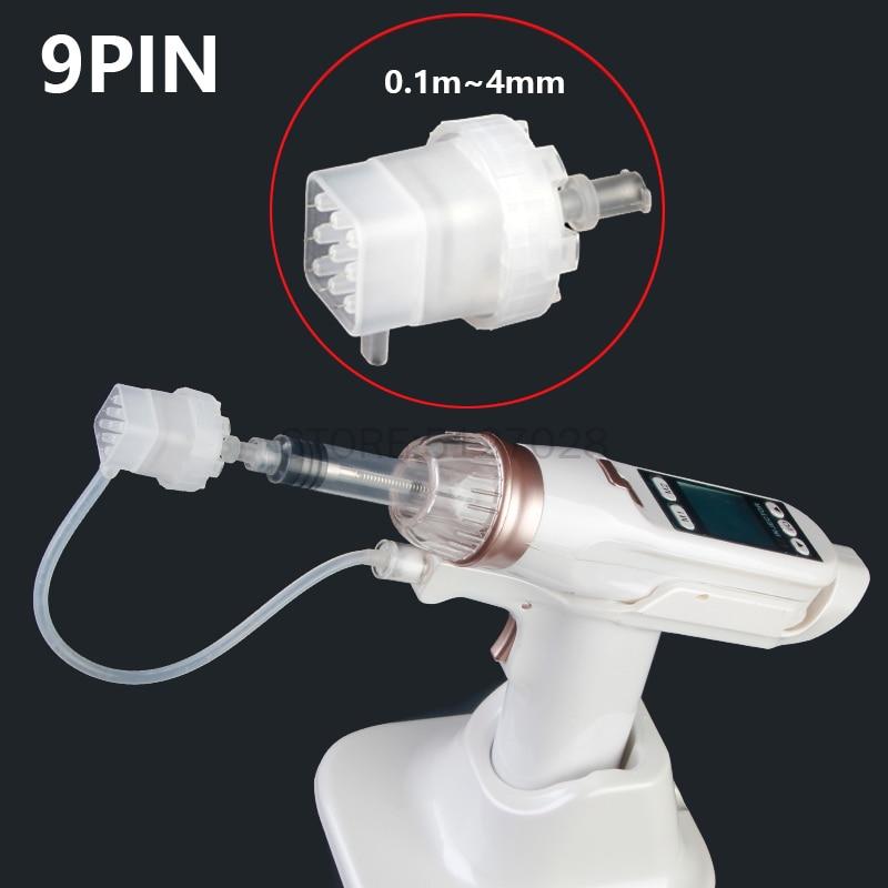 9 Pins Disposable Injection Pinhead For Meso Gun, Negative Pressure Cartridge Needles Tip For EZ Vacuum Mesotherapy Masogun