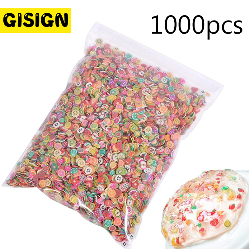 1000pcs Fruit Slices For Nail Art Slime Addition All For Slime Filler Lizun Diy Charm Slime Accessories Supplies Decor Toy