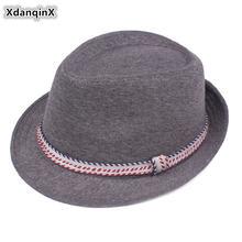 Xdanqinx осенние Мужские фетровые Панамы мужские джазовые шапки