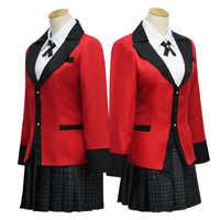 Anime Kakegurui Cosplay Kostüm Jabami Yumeko Cosplay Kostüm Japanische Hohe Schuluniform Mädchen Kleidung Frauen Anzüge