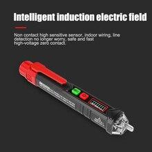 Бесконтактный детектор напряжения Тестовый карандаш с фонариком ЖК-дисплей тестовый инструмент PUO88