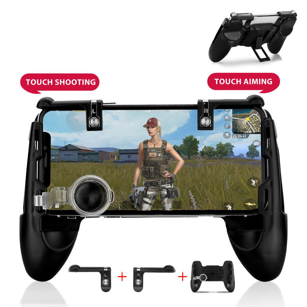 3 in 1 For PUBG Game Mini Handle Gamepad For Mobile Phone Game Controller Shooter Trigger Joystick Fire Button For iPhone