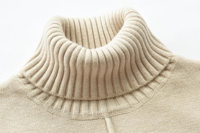 2020 męska Casual Slim Fit Basic sweter z golfem topy dziergany sweter sweter pulower z golfem mężczyzna podwójny kołnierzyk topy tanie i dobre opinie 7856 Moto Biker Komputery dzianiny Swetry Poliester Kaszmirowy COTTON Stałe Pełna REGULAR Grube Brak NONE