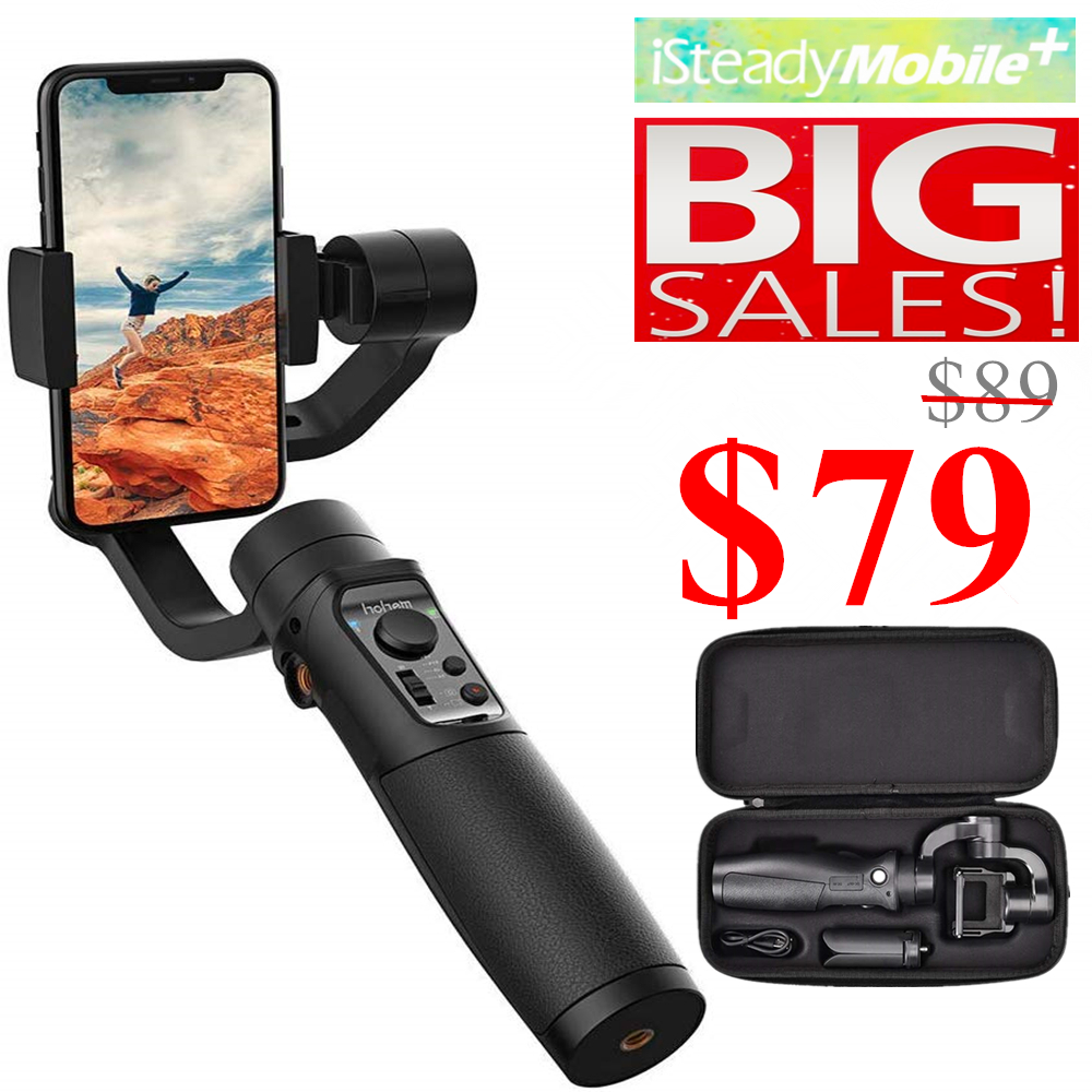 Hohem ISteady Mobile Plus 3-Axis Smartphone Gimbal Stabilizer, For IPhone11Pro/Max, For Android Smartphones, 280g Payload