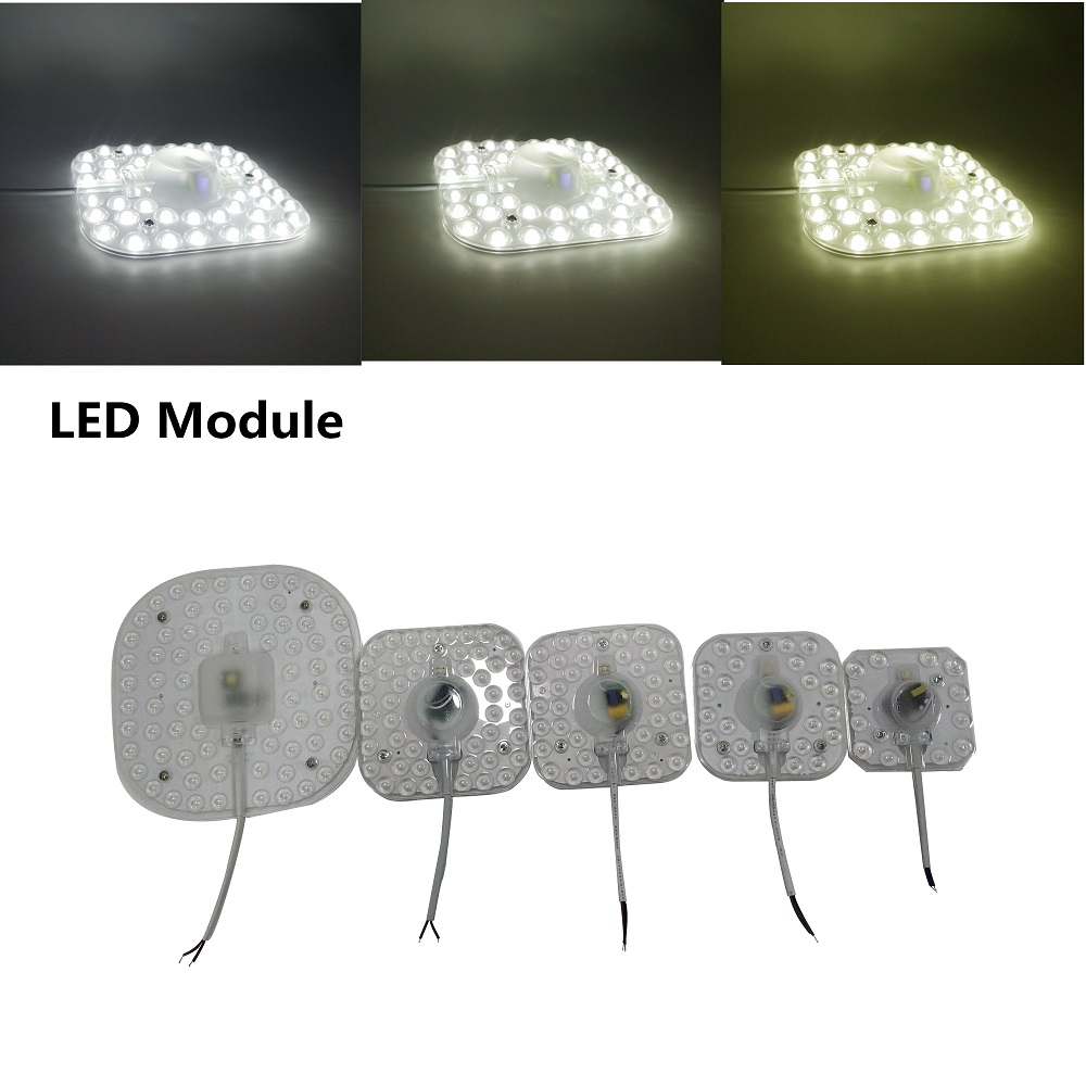 Celling Lamp Lighting Source AC220V 6W 12W 18W 24W 36W LED Panel Light LED Light Board Octopus Light Tube Replace Ceiling LED La