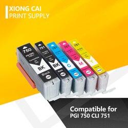 PGI 750 CLI 751 kompatybilny tusz kartridż do canona MG6370 MG7170 MG7570 IP8770 MG6770 MG6670 drukarki PGI-750 CLI-751 PGI750