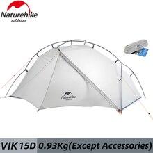 Naturerandonnée 15D série Vik tentes ultra-léger imperméable blanc tente de Camping en plein air pour 1 personne 930g voyage randonnée avec tapis gratuit