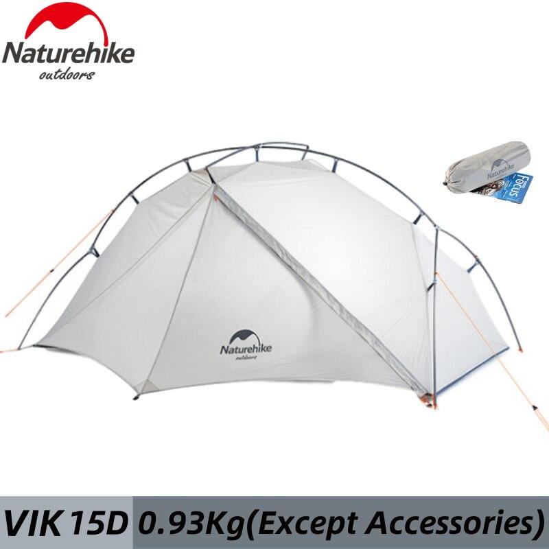 Naturehike VIK Ultraleicht Einzelne Person Zelt 15D Nylon Camping Zelt Outdoor Wandern Reise Wandern Wasserdicht Mit Kostenloser Matte
