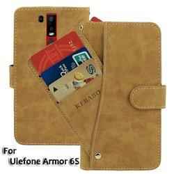 На Алиэкспресс купить чехол для смартфона vintage leather wallet ulefone armor 6s case 6.2дюйм. flip luxury card slots cover magnet stand phone protective bags