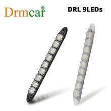 цена на 2PCS 9LEDs Car-styling DRL Car Daytime Lamp Car Daytime Running Light  Auto Fog Light Super Bright Waterproof Driving Lamps