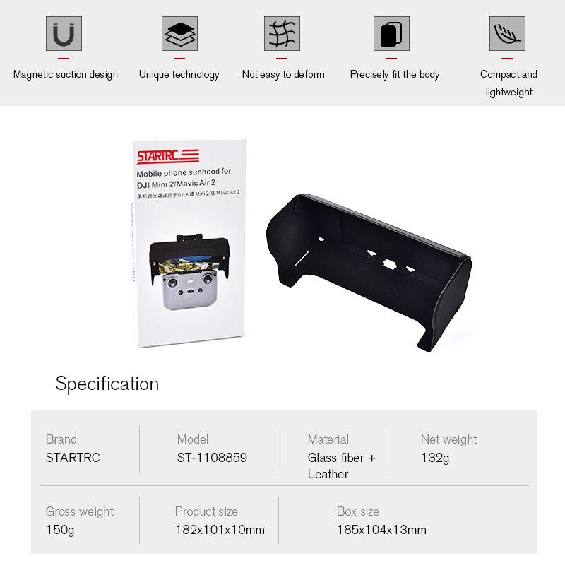 Hdf32c70f02424229a4ba7d221fb33669a - STARTRC DJI Mini 2 Sun hood Remote Control Sunshade Phone Monitor sun shade hood For DJI Mavic Air 2/Mavic Mini 2/2S Controller