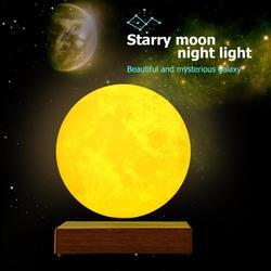 المغناطيسي الإرتفاع LED اللمس ثلاثية الأبعاد طباعة ضوء غرفة نوم القمر ليلة مصباح عيد الحب هدايا عيد ديكور المنزل دروبشيبينغ