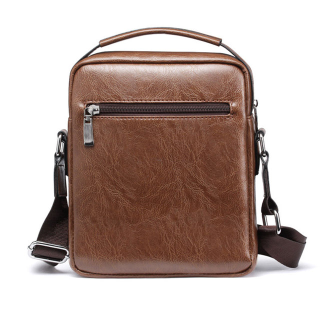 Casual Men Shoulder Bag Vintage Crossbody Bags High Quality Male Bag PU Leather Handbag Capacity Men Messenger Bags Tote Bag 2