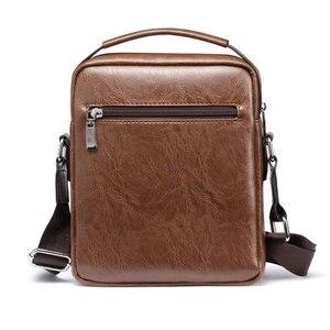 Image 2 - Sac à bandoulière en cuir PU pour hommes, sac à main Vintage de bonne qualité, sac à main de capacité, sacoche fourre tout, décontracté
