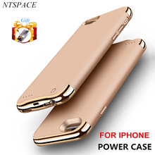NTSPACE Backup Power Bank Pack For iPhone 6/6s/7/8 Wireless Back Clip Battery Case For iPhone 6/6s/7/8 Plus Power Charger Cases стоимость