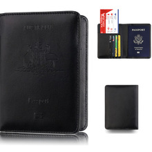 Держатель для паспорта из искусственной кожи в австралийском стиле, RFID Блокировка, для путешествий, ID, бизнес, чехол для кредитных карт, кошелек, органайзер для паспорта