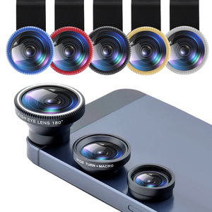 Universal 3IN1 Clip-on Phone Camera Lens Lentes Kit Macro Fisheye Wide Angle Clip For Android Tablets IOS And Other Smartphone