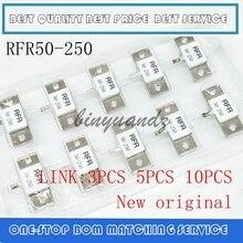 3 pièces 5 pièces 10 pièces 100% Nouveau original; charge factice résistance RFR 50 250 RFR 50 250 RFR50 250 250 W 50R 50 Ohms 250 Watts Simple BROCHE