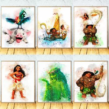 5D diament malarstwo Disney Moana Maui Pua Hei Hei TeFiti diament haft koralik obraz zestawy Hobby prezent dekoracje ścienne tanie i dobre opinie OBRAZY CN (pochodzenie) PAPER BAG Pojedyncze Akrylowe Pełna Tak ( 50 sztuk) cartoon Zwijane 1-30 Okrągły Nowoczesne