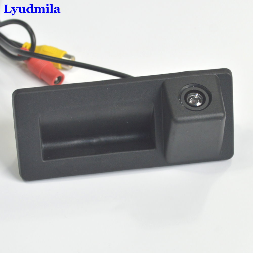 Lyudmila For SKODA Octavia MK3 A7 5E 2016 2017 2018 Car Rear View Parking Camera Instead of Original Factory Trunk Handle Camera in Vehicle Camera from Automobiles Motorcycles
