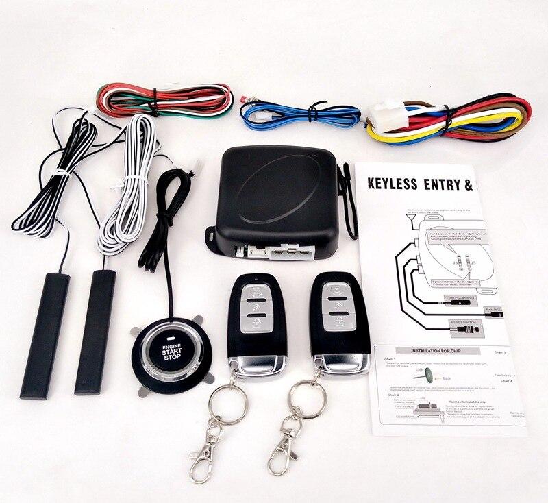 Alarme de voiture entrée sans clé Passive démarrage à distance/arrêt système de moteur verrouillage Central démarrage du moteur de voiture bouton d'arrêt automobile PKE SQ886