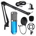 Microfone de estúdio profissional microfone bm 800 condensador microfone de gravação de som para computador microfone mikrofon micro bm800