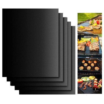 Non-Stick BBQ Grill And Baking Mats Reusable Telfon Coooking Plate For Party PTFE Grill Pad Barbecue Outdoor Set Of 1/2/