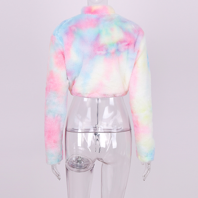 Hdf33dc18fbfe4a5488f610a3c37ce274M Hugcitar long sleeve zipper high neck Faux lambswool crop tops 2018 autumn winter women fashion solid coat jacket