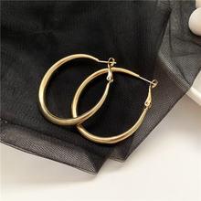 Металлическая Геометрия большие круглые серьги модные ювелирные