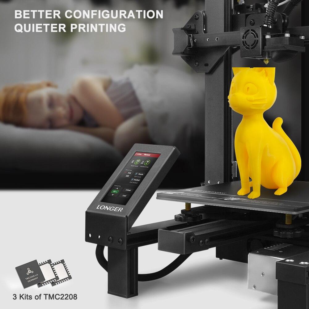 "LONGER LK4 Pro FDM 3D Printer Open Source 4.3"" Full Color Touch Screen Full Metal Big Size High Precision 3D Drucker"