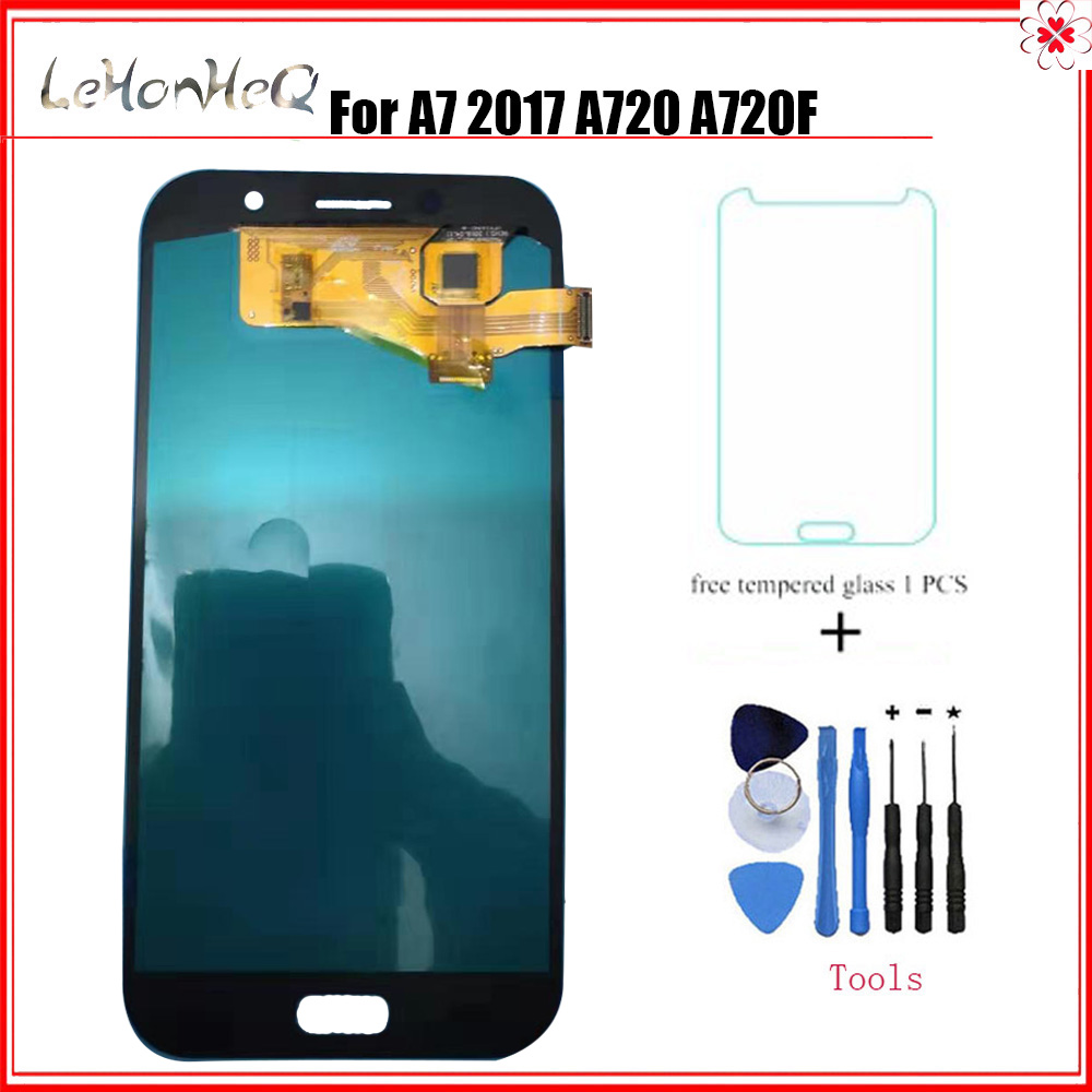 For <font><b>Samsung</b></font> Galaxy A7 2017 A720 <font><b>A720F</b></font> SM-<font><b>A720F</b></font> A720M LCD Display Touch <font><b>screen</b></font> Digitizer Assembly LCD For <font><b>Samsung</b></font> A720 LCD image