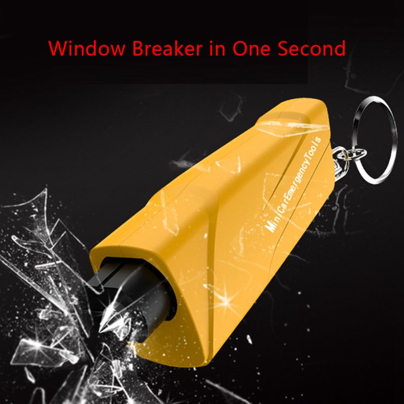 1pc Car Multi-Function Car Safety Hammer Portable Window Breaker Escape Device title=