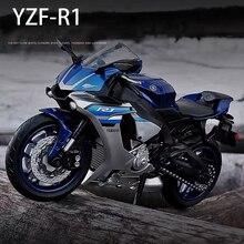 Модель мотоцикла Yamaha YZFR1 из сплава 1/12 года, литой под давлением, Коллекция игрушечных автомобилей, автовелосипед, поглотитель короткого ход...
