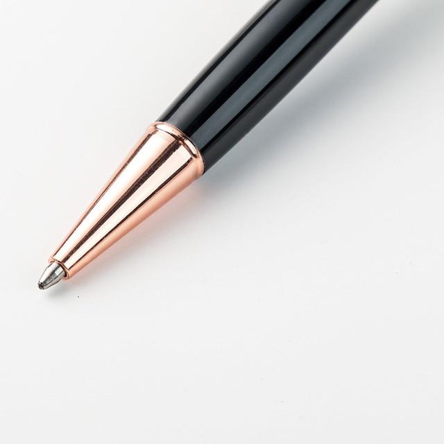 1pcs Kawaii Ball Pens Metal Ballpen Four-leaf clover Ballpoint Pens Student Pens For School Stationery Office Supplies 1.0mm 2