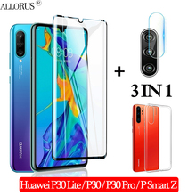 3-in-1 Case + Camera Tempered Glass for Huawei-P30-Lite P30Pro Screen Protector huawei psmart z Full cover Glass huawei p30 lite