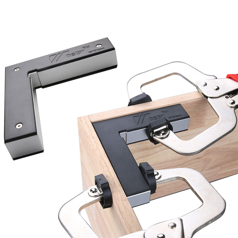 90 Degrees L-Shaped Auxiliary Fixture Splicing Board Positioning Panel Fixed Clip Woodworking Square Ruler Tool
